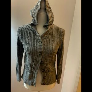 Aeropostale cardigan cabled hoodie, size L